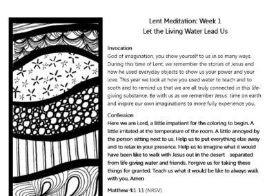 Lent 2017 Week 1
